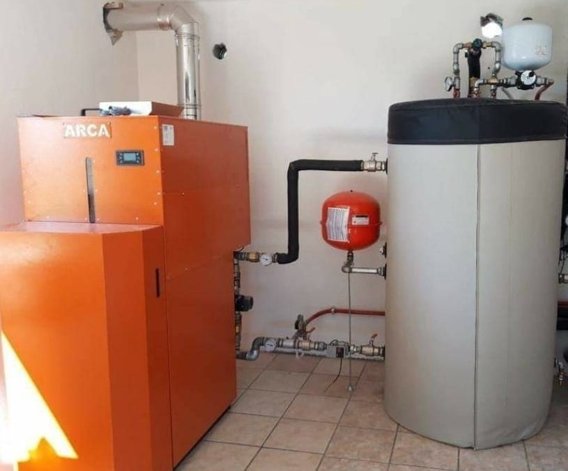 Impianto di riscaldamento a biomassa